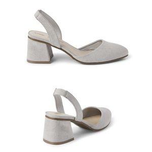 2/$30 🗝 Simple gray sling back heels